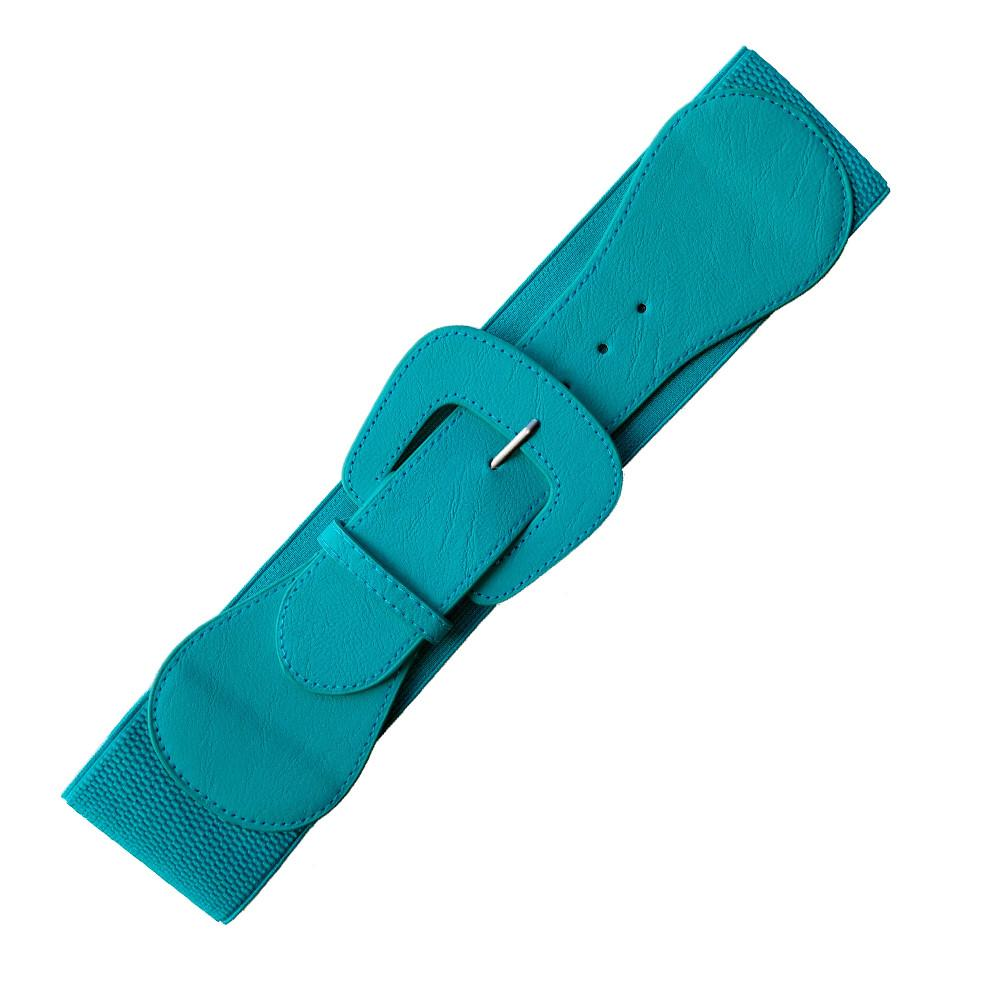 Teal Cinch Belt