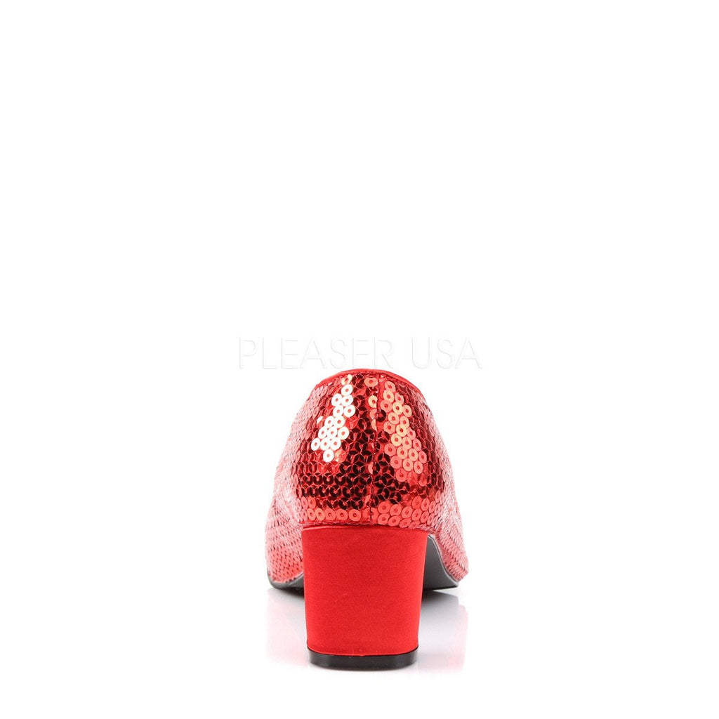 Red Sparkle Dorothy Pumps - The Atomic Boutique