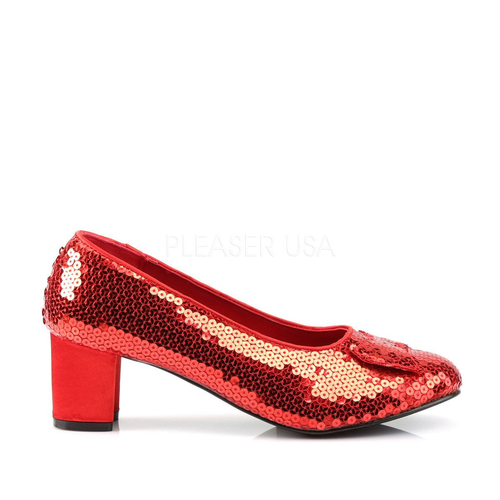 Funtasma Red Sparkle Dorthy Pumps - The Atomic Boutique