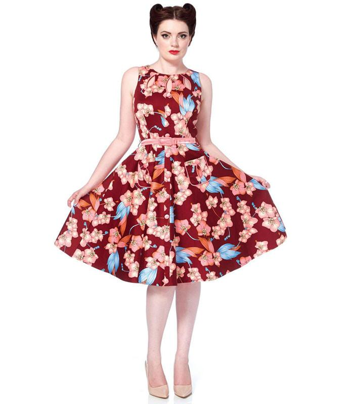 Winter Orchid Cut Out Swing Dress - Last One Small - The Atomic Boutique