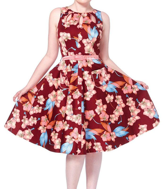 Winter Orchid Cut Out Swing Dress - The Atomic Boutique