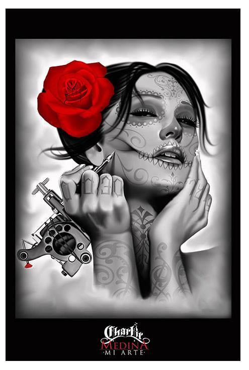 Black Market Art Company Dead Queen Art Print - The Atomic Boutique