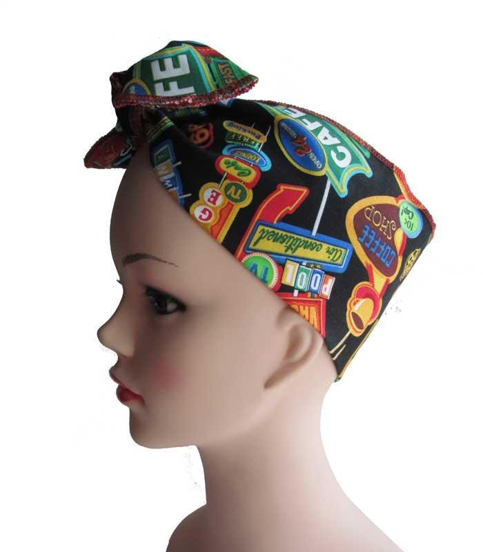 Diner Fabric Head Wrap Scarf - The Atomic Boutique  - 1