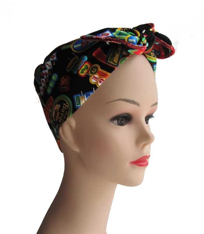 Diner Fabric Head Wrap Scarf - The Atomic Boutique  - 2