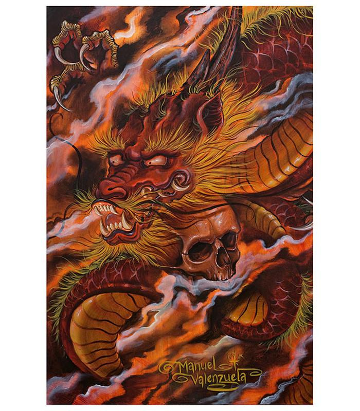 Black Market Dragons Descent Art Print - The Atomic Boutique  - 1