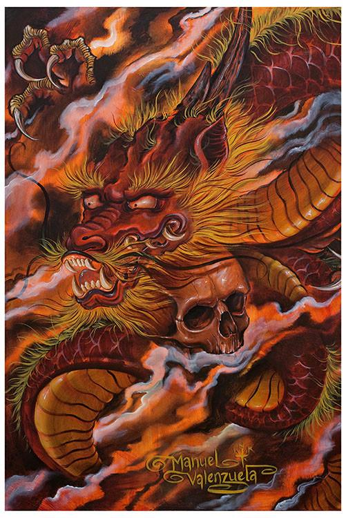 Black Market Dragons Descent Art Print - The Atomic Boutique