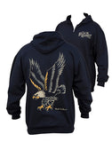 Mens Eagle Zip Up Hoodie