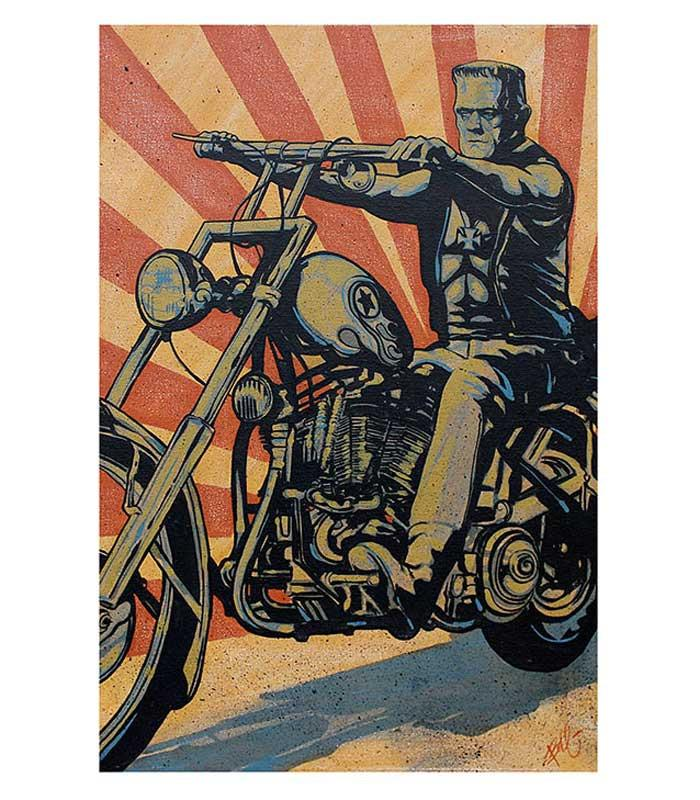 Eerie Rider Fine Art Print - The Atomic Boutique