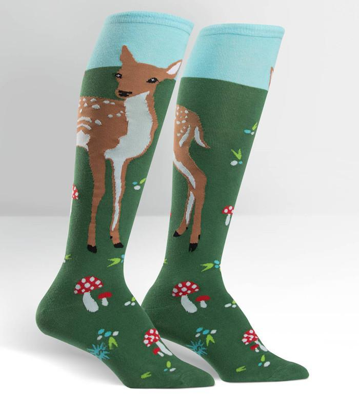 Sock It To Me Fawn Memories Knee High Socks - The Atomic Boutique