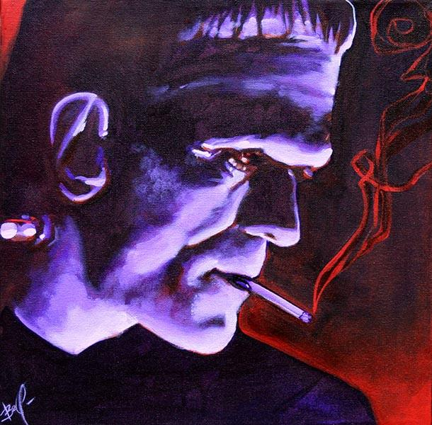 Franky by Mike Bell Fine Art Giclee Canvas Print - The Atomic Boutique