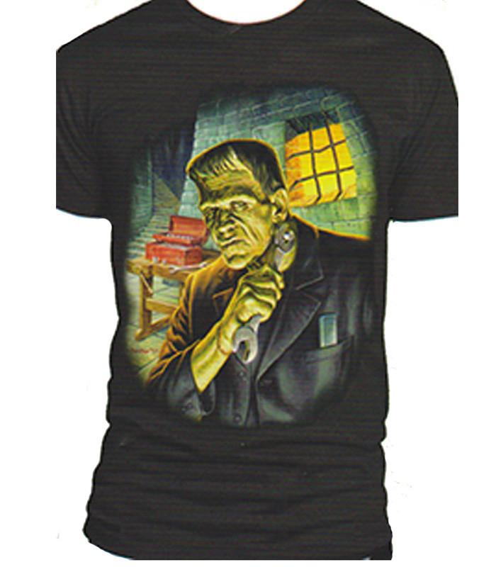 Universal Frank Getting Ready T-shirt - The Atomic Boutique  - 1