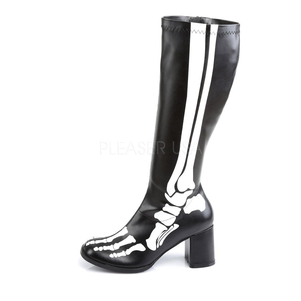 Funtasma Skeleton X-Ray Knee High Boots - The Atomic Boutique  - 3