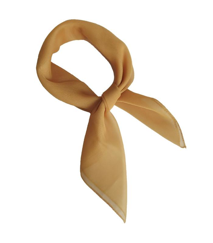 Gold Retro Chiffon Scarf - The Atomic Boutique
