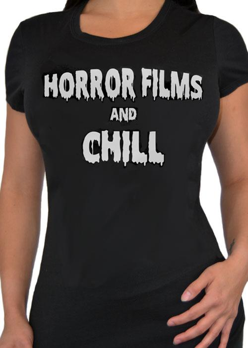 Horror Films and Chill Fitted Women's Tee