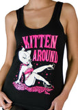 Pinky Star Kitten Around Tank Top - The Atomic Boutique