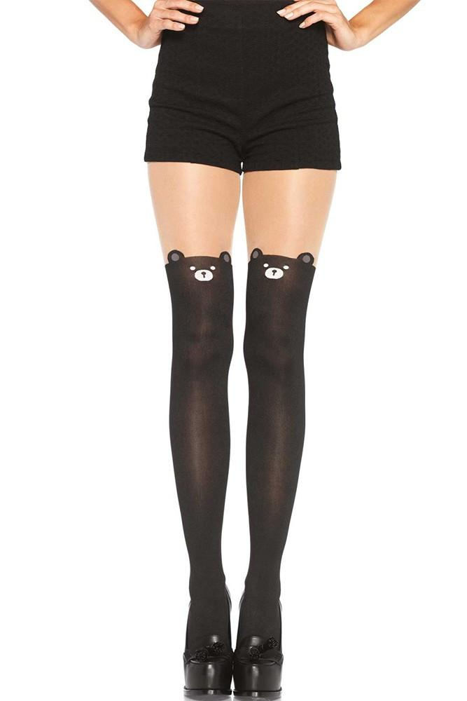 Leg Avenue Bear Print Tights - The Atomic Boutique