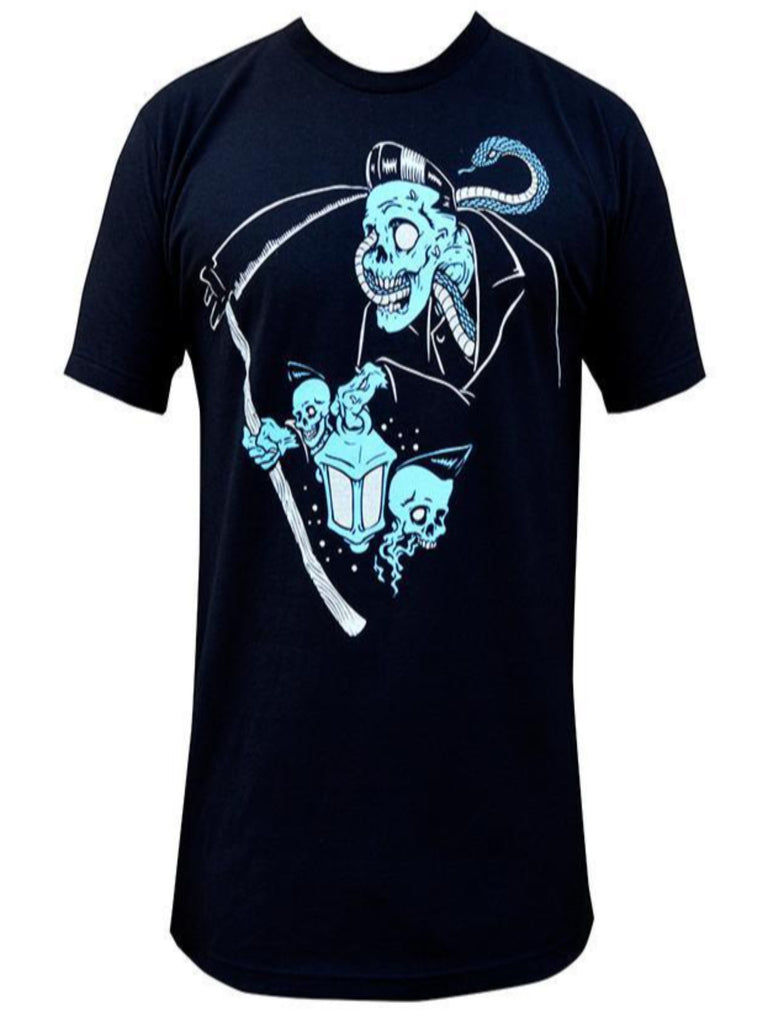 Lowbrow Art Company Ghost Reaper Mens Tee - The Atomic Boutique