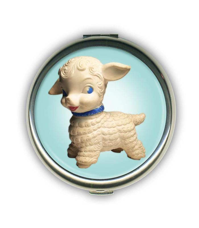 Buttercream Lil' Lambie Compact Mirror - The Atomic Boutique  - 1