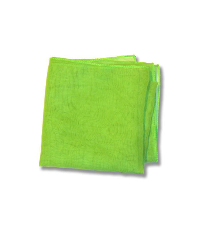 Lime Green Retro Chiffon Scarf - The Atomic Boutique  - 2