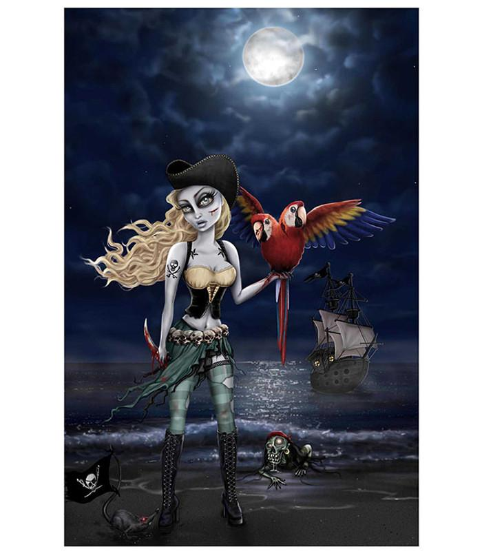 Lowbrow Living Dead Sea Art Print by Artist Cristie Dunavan - The Atomic Boutique