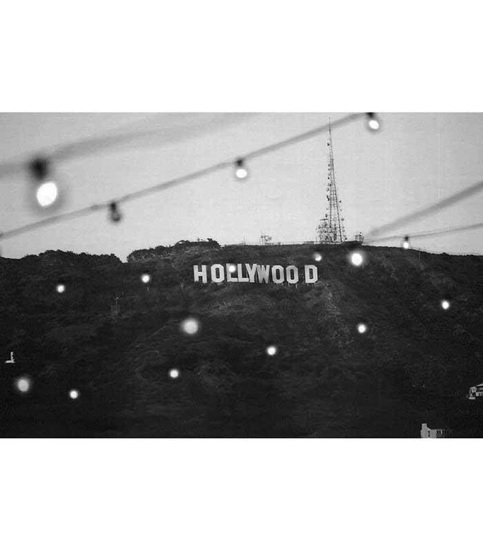 Hollywood Sign Strip Art Print - The Atomic Boutique