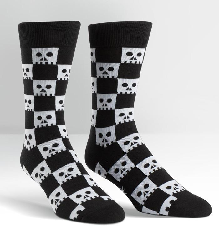 Sock It To Me Check Your Skull Crew Socks - The Atomic Boutique