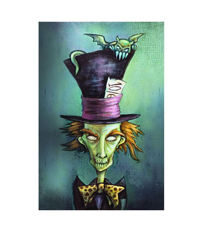 Mad Hatter Fine Art Print by Artist Diana Levin - The Atomic Boutique