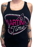 Martini Time Fitted Racer Tank Top