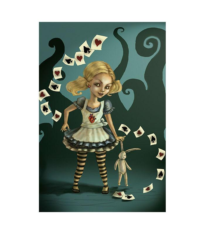 Miss Wonderland Art Print by Artist Diana Levin - The Atomic Boutique