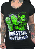 Monsters Are My Boyfriend Fitted Women's Tee