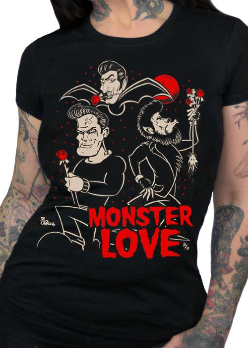 Monster Love Women's Fitted T-Shirt - The Atomic Boutique