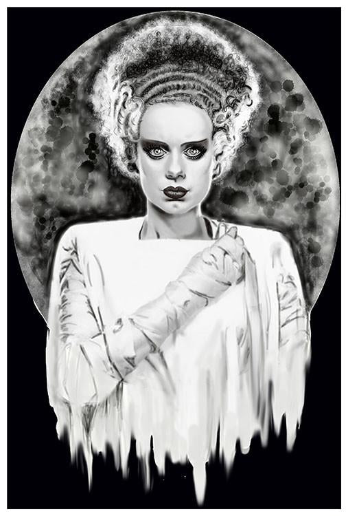Monsters Bride Art Print by Artist Shayne of the Dead - The Atomic Boutique  - 2