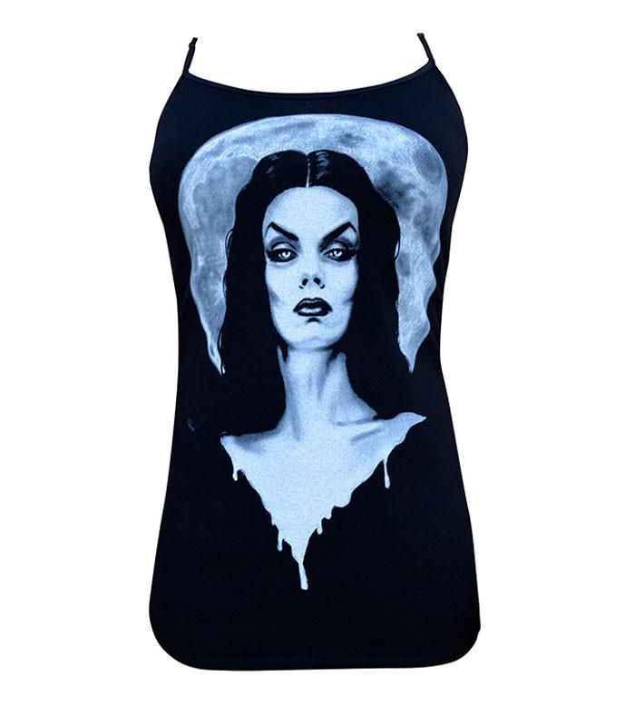 Lowbrow Moonlight Vampira Camisole Tank by Shayne of the Dead - The Atomic Boutique