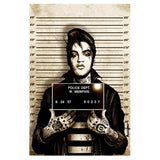 Mr Elvis Vegas Mugshot Art Print - The Atomic Boutique