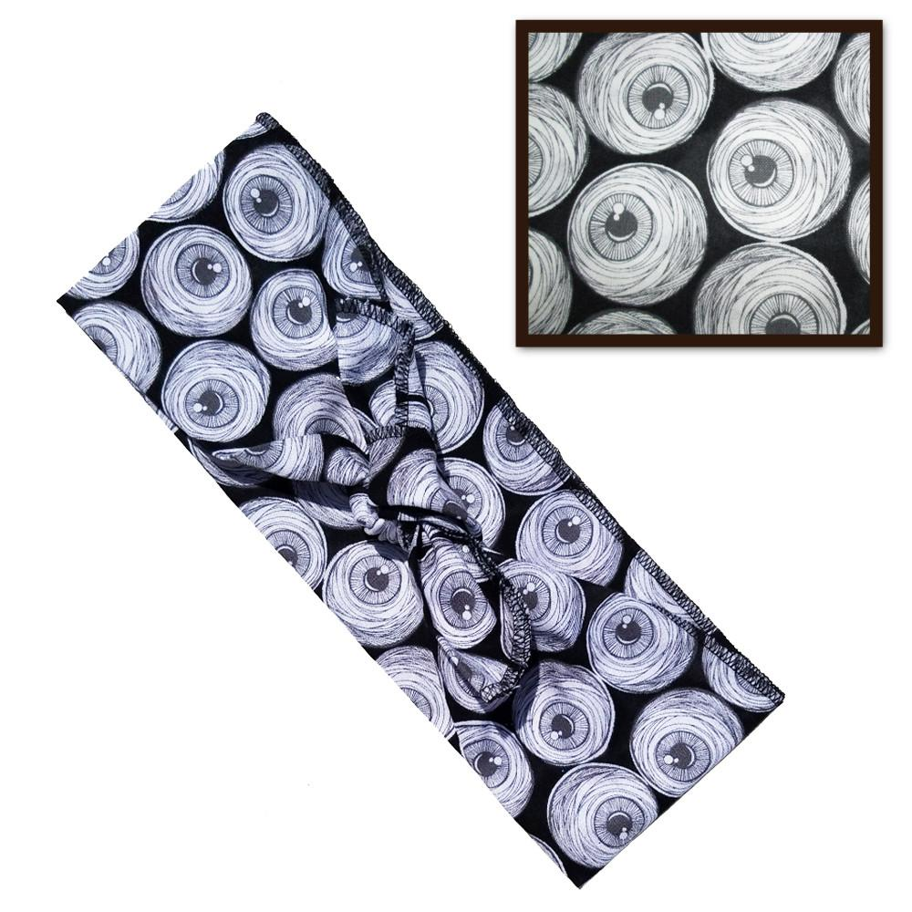 Mummy Eyeball Fabric Head Wrap Scarf - The Atomic Boutique