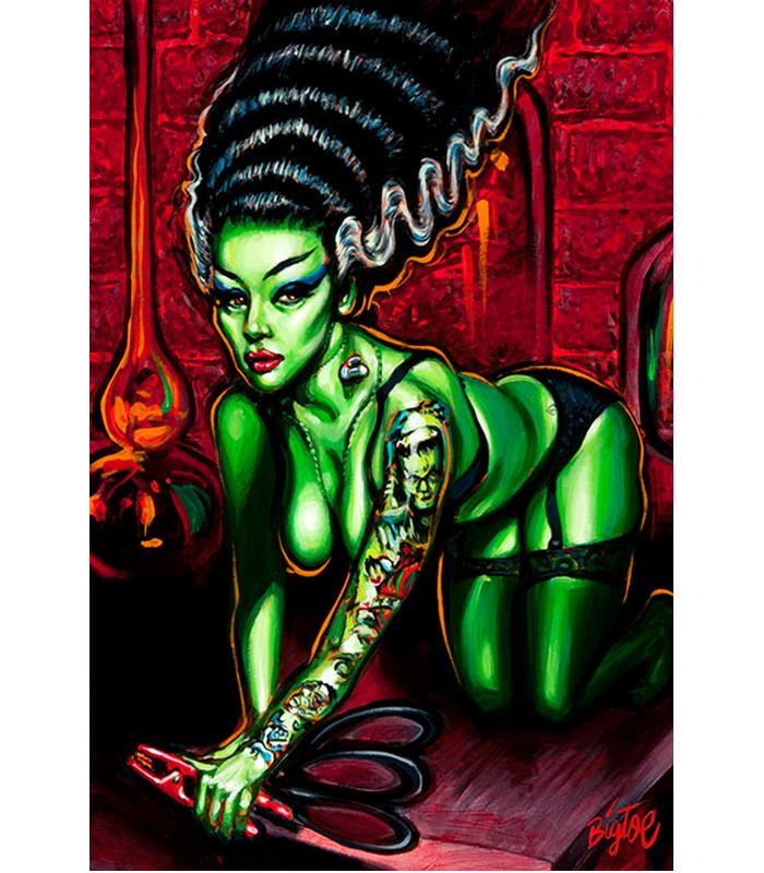 Lowbrow Novia Del Monstro Art Print by Artist Big Toe - The Atomic Boutique  - 1