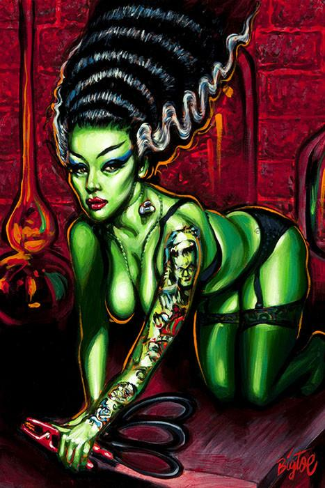 Lowbrow Novia Del Monstro Art Print by Artist Big Toe - The Atomic Boutique  - 2