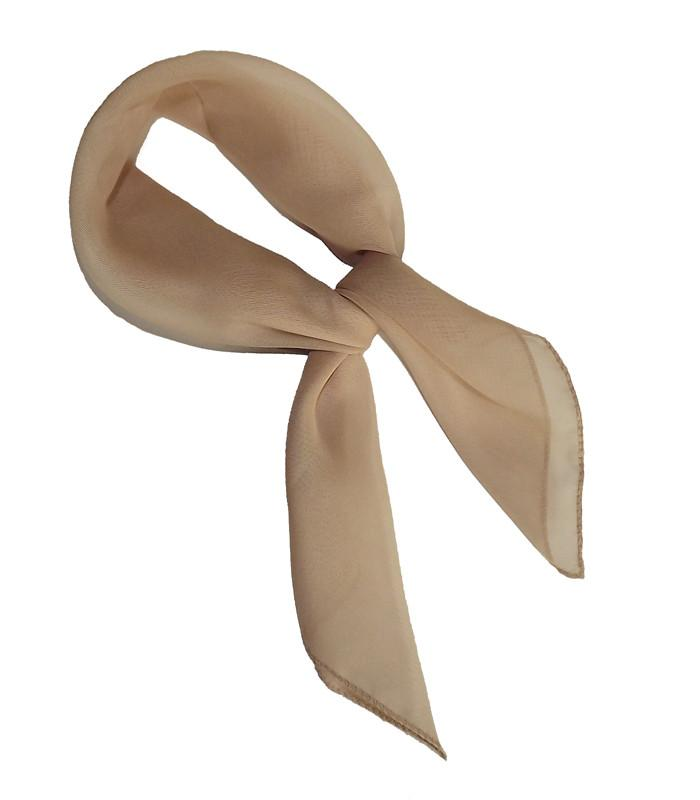 Nude Retro Chiffon Scarves - The Atomic Boutique