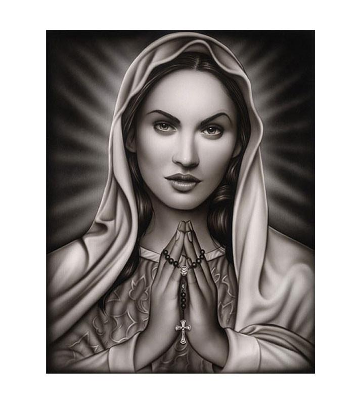 Black Market Art Company Praying Mary by Artist Spider - The Atomic Boutique