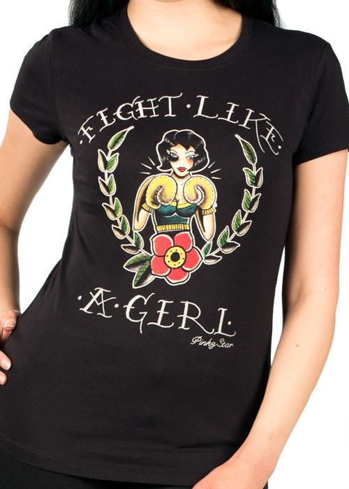 Fight Like A Girl  Womens Fitted Tee