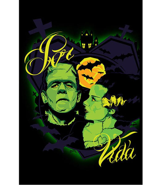 Lowbrow Por Vida Monsters Art Print by Artist Charlie Medina - The Atomic Boutique  - 1