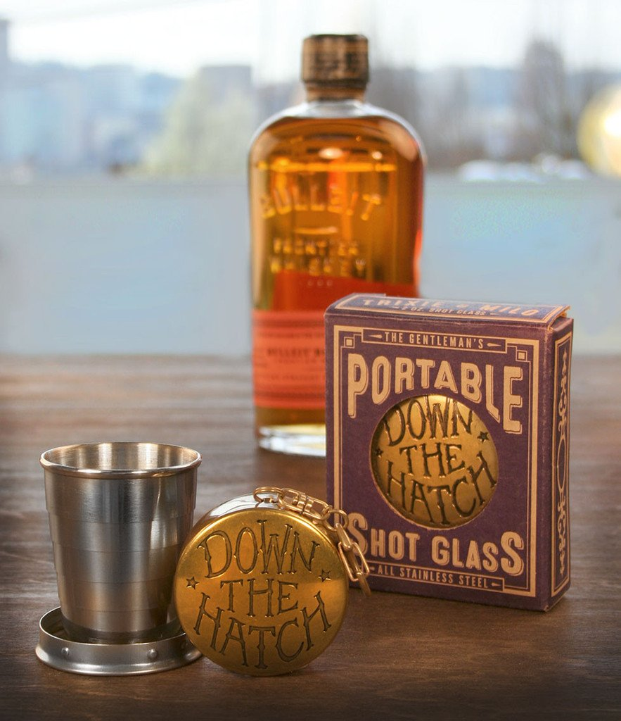 Down the Hatch Portable Shot Glass - The Atomic Boutique