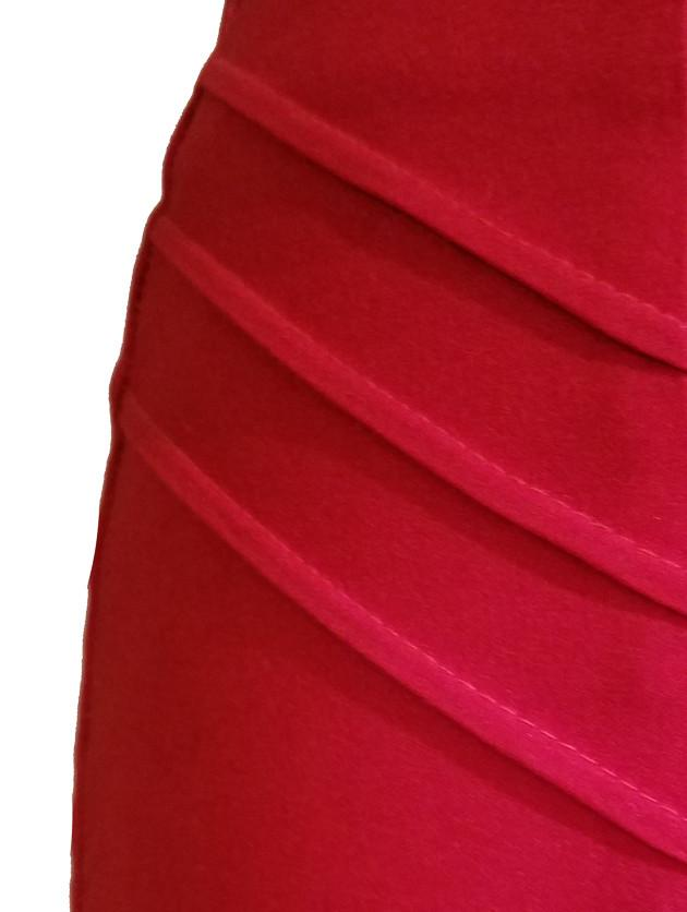 Atomic Apparel Scarlet Red Pleated Pencil Skirt - The Atomic Boutique