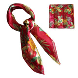 Red Tropical Fruit Retro Chiffon Scarf - The Atomic Boutique  - 2