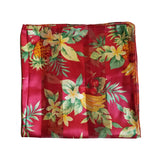 Red Tropical Fruit Retro Chiffon Scarf - The Atomic Boutique  - 1