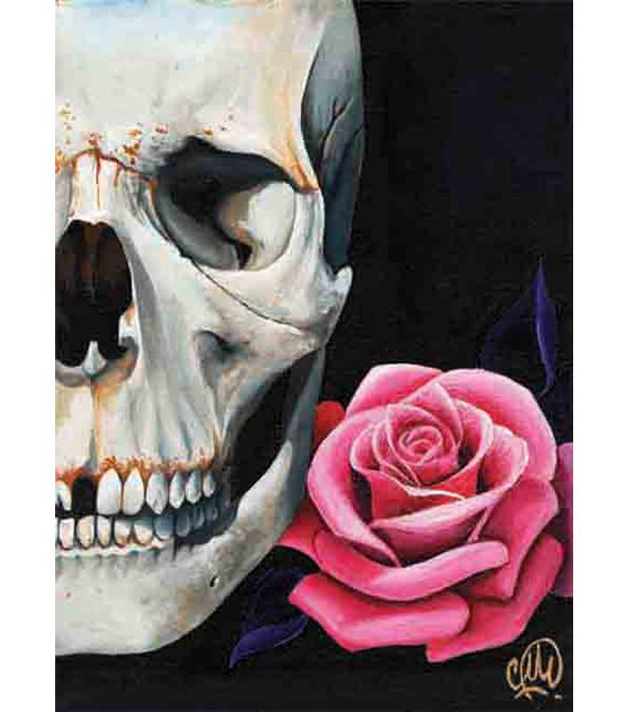 Rose & Skull Art Print by Artist Christina Ramos - The Atomic Boutique