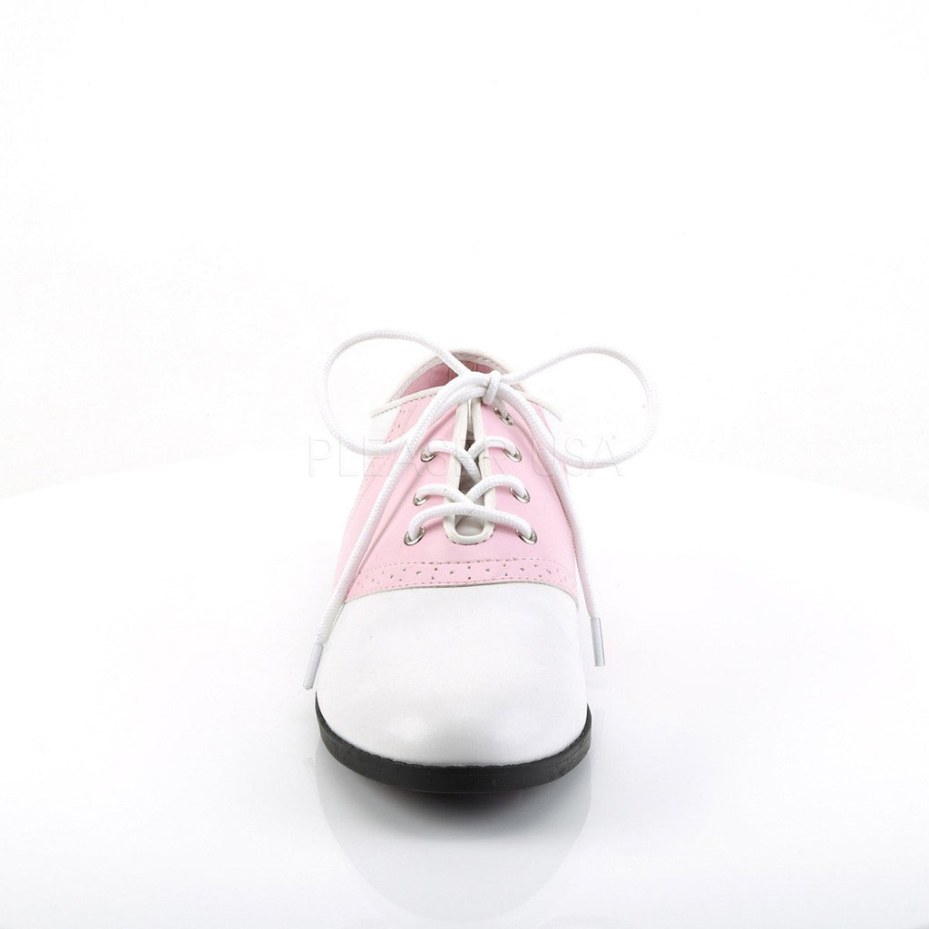 Funtasma Pink and White Saddle Shoes - The Atomic Boutique  - 2