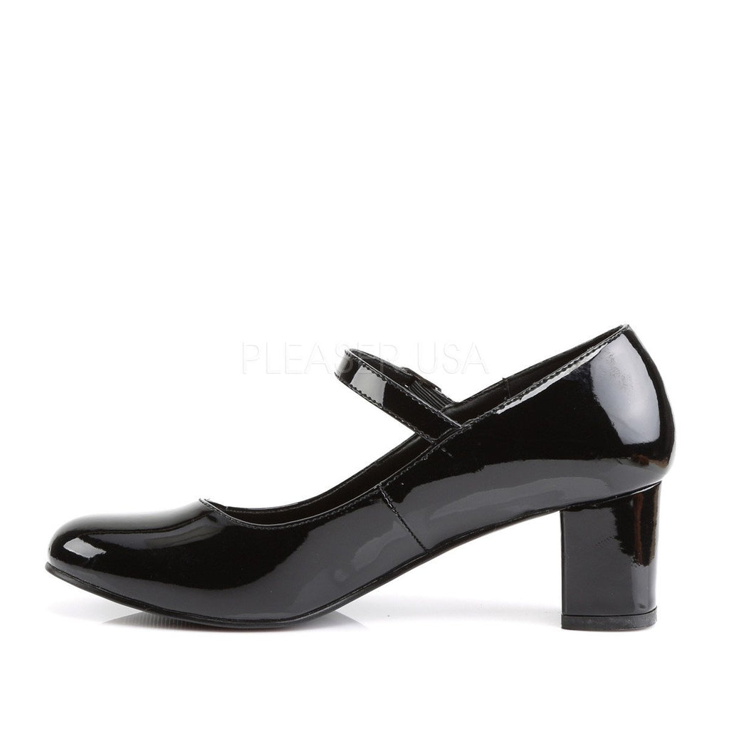 Shiny Black Mary Jane Black Pumps - The Atomic Boutique