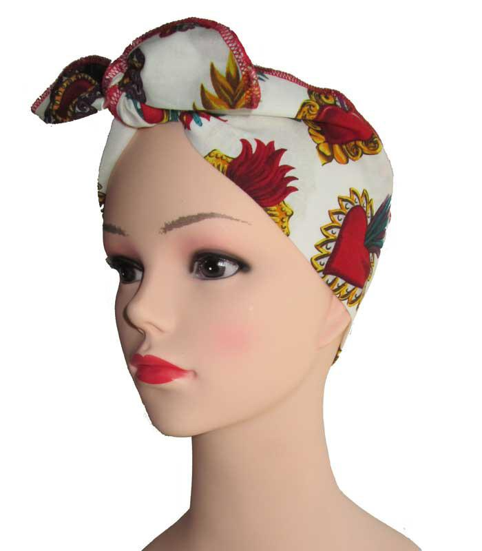 Sacred Heart Fabric Head Wrap Scarf - The Atomic Boutique  - 1