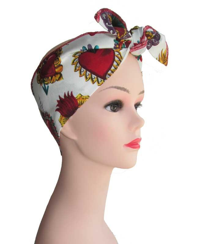 Sacred Heart Fabric Head Wrap Scarf - The Atomic Boutique